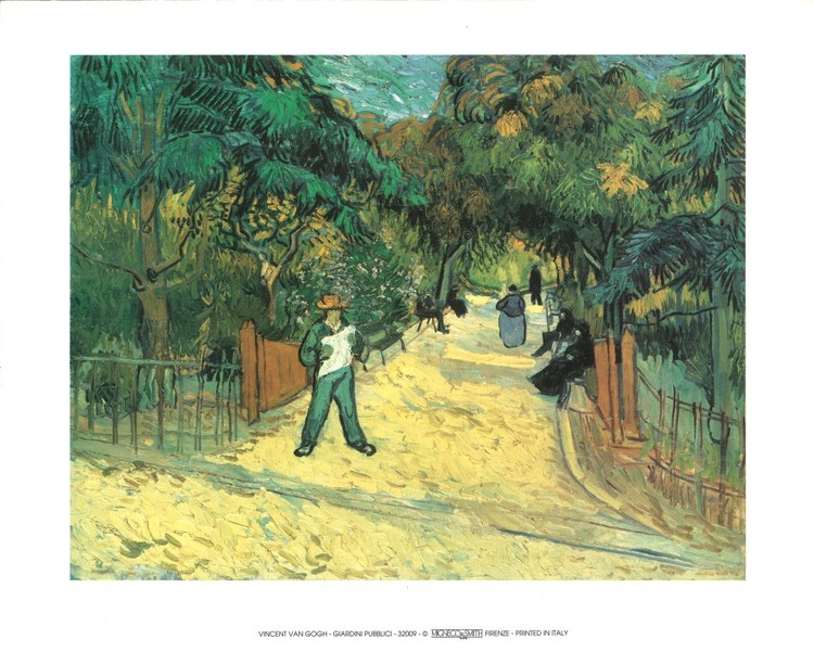 Entrance to the Public Garden in Arles, 1888 Reproduction d'art