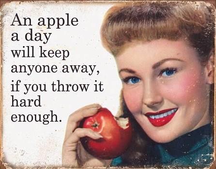 Ephemera - Apple a Day Plaque métal décorée