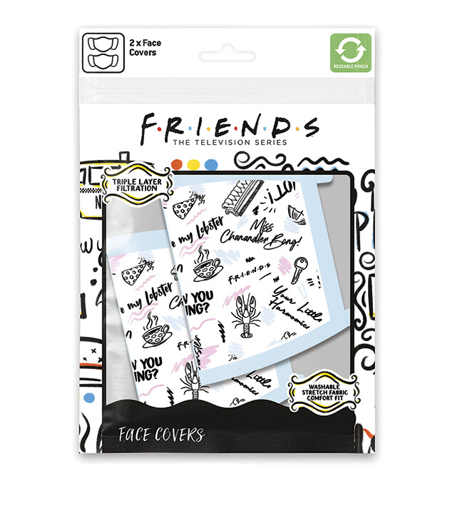 Face masks Friends - Phrases (2 pack)