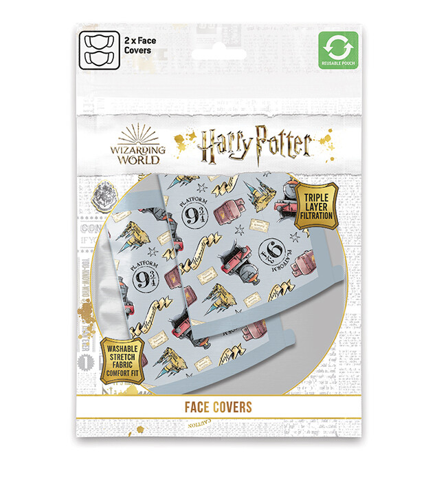 Face masks Harry Potter - Hogwarts Express (2 pack)