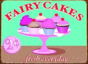 FAIRY CAKES Plaque métal décorée