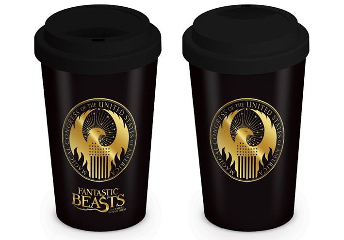 Travel mug Fantastic Beasts - Macusa Logo