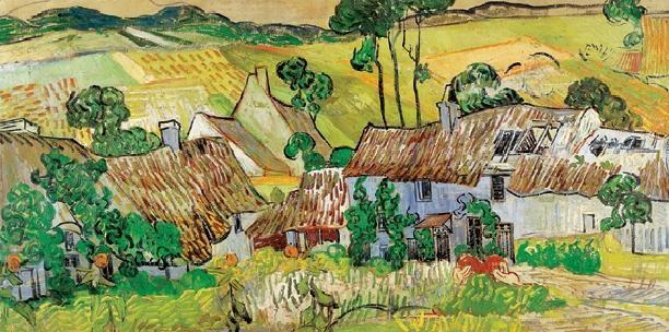 Farms near Auvers, 1890 Reproduction d'art