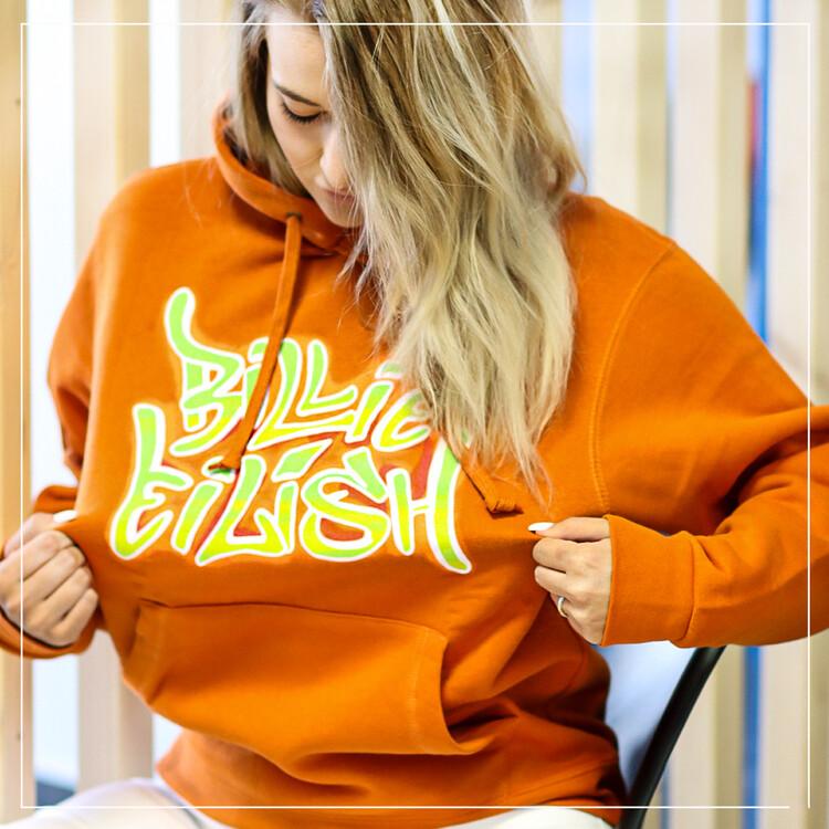 Jumper Billie Eilish - Airbrush Flames