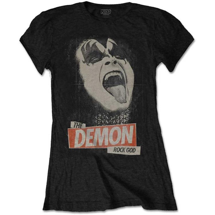 T-shirt Kiss - The Demon Rock God Ladies