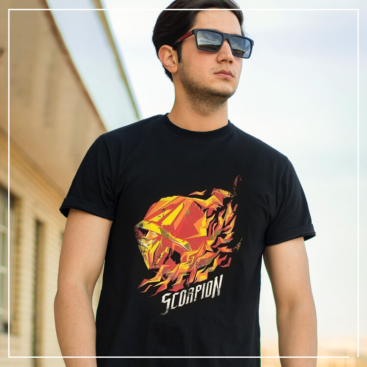 T-shirt Mortal Kombat - Scorpion Flame