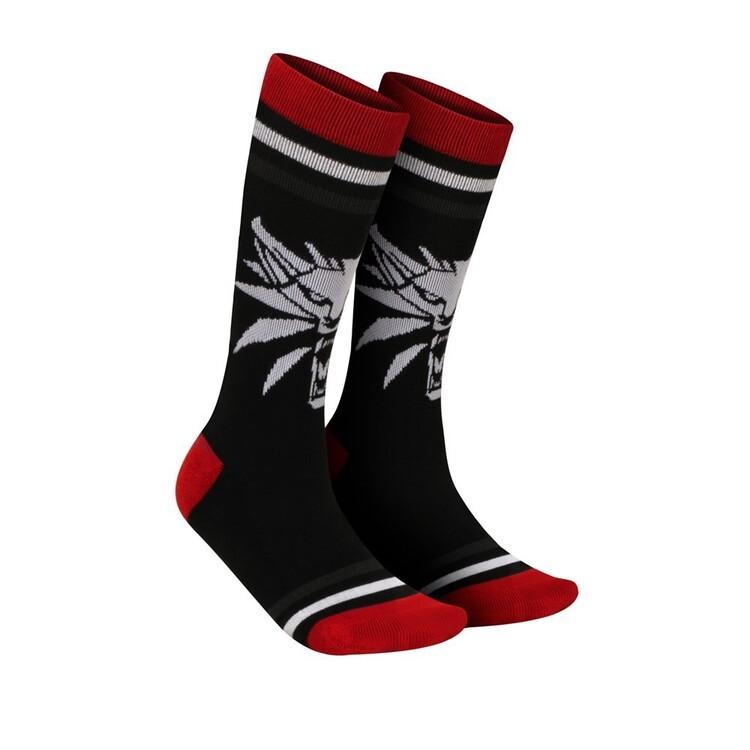 Fashion Socks The Witcher 3 - White Wolf