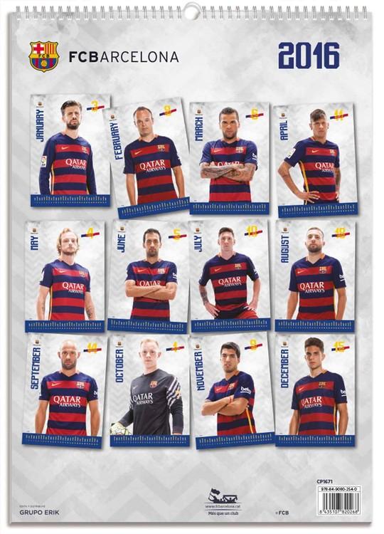 Calendrier Barca 2022 FC Barcelona   Wall Calendars 2022   Large selection