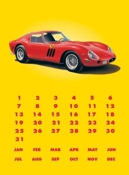 FERRARI GTO  Plaque métal décorée