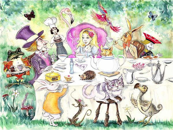 Fine Art Print Alice's Adventures in Wonderland by Lewis Carroll