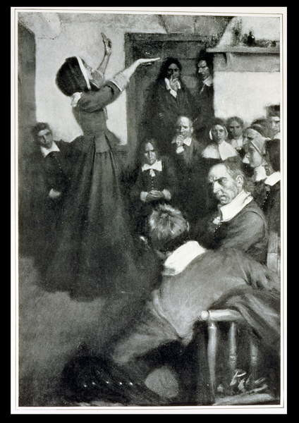 Fine Art Print  Anne Hutchinson Preaching in her House in Boston, 1637, illustration from 'Colonies and Nation' by Woodrow Wilson, pub. in Harper's Magazine, 1901