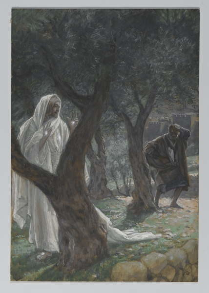 Apparition of Our Lord to Saint Peter, illustration from 'The Life of Our Lord Jesus Christ', 1886-94 Canvas Print