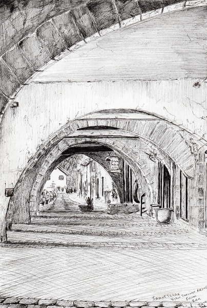 Fine Art Print  Arches Sauveterre France, 2010,
