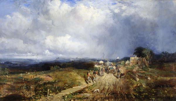 Fine Art Print Baggage Wagons Approaching Carlisle, 1849
