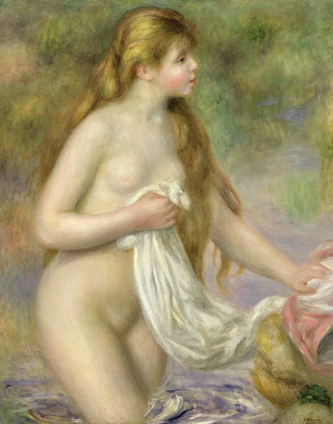 Fine Art Print  Bather with long hair, c.1895