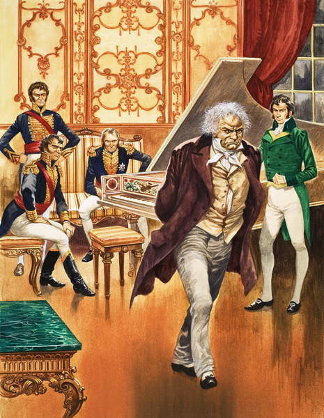 Beethoven storms out of the music room Canvas Print