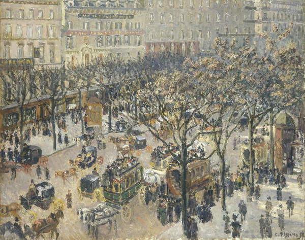 Fine Art Print Boulevard des Italiens, Morning, Sunlight, 1897
