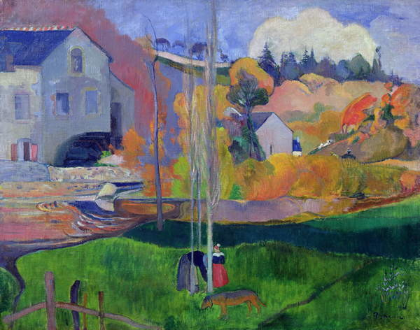 Brittany Landscape: the David Mill, 1894 Canvas Print