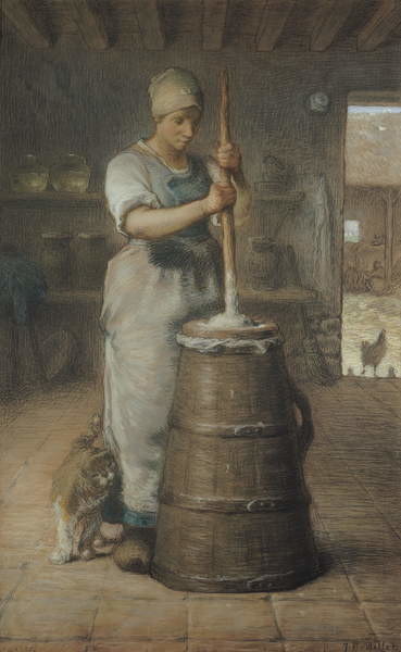 Churning Butter, 1866-68 Canvas Print