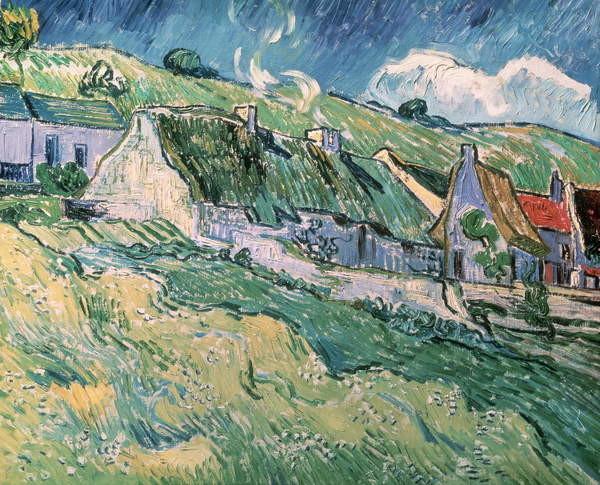 Fine Art Print Cottages at Auvers-sur-Oise, 1890