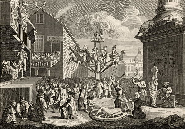 Fine Art Print  Emblematical print of the South Sea, from 'The Works of William Hogarth', published 1833