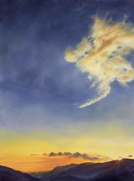 Father's Joy (Cloudscape), 2001 Canvas Print
