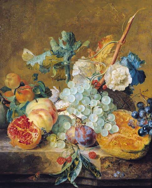 Fine Art Print Flowers and Fruit