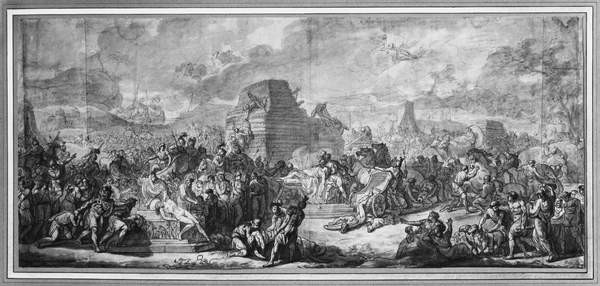 Canvas Print Funeral of Patroclus