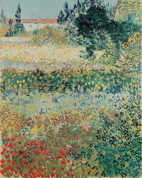 Fine Art Print Garden in Bloom, Arles, July 1888
