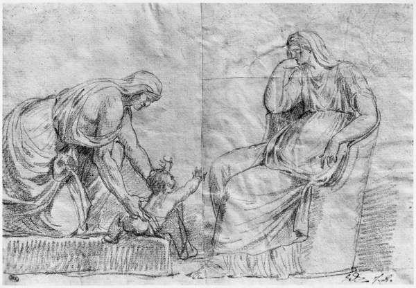 Gynaeceum scene Canvas Print