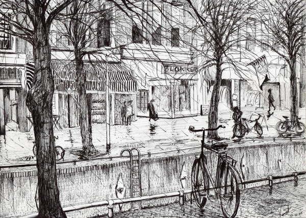 Fine Art Print Harlingen Holland, 2005,