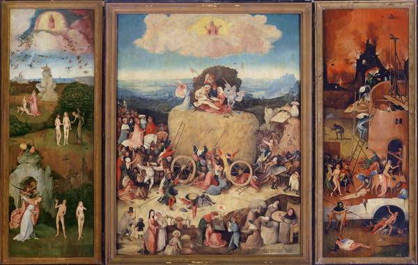 Fine Art Print Haywain, 1515 (oil on panel)