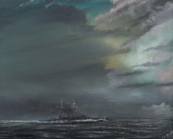 Fine Art Print HMS Hood 1941, 2014,