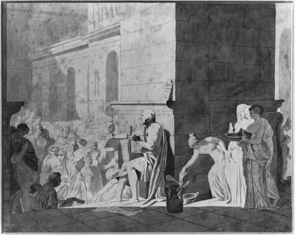 Fine Art Print  Homer reciting his poems, 1794