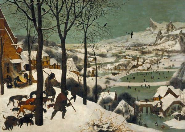 Fine Art Print Hunters in the Snow (Winter), 1565