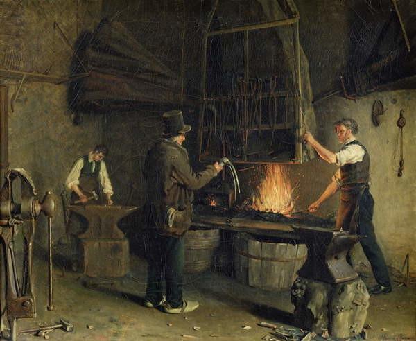 Fine Art Print Interior of the Forge, 1837