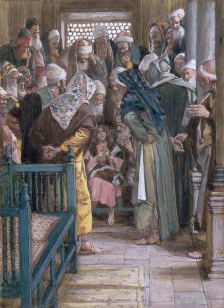 Fine Art Print Jesus amidst the doctors, illustration for 'The Life of Christ', c.1886-96