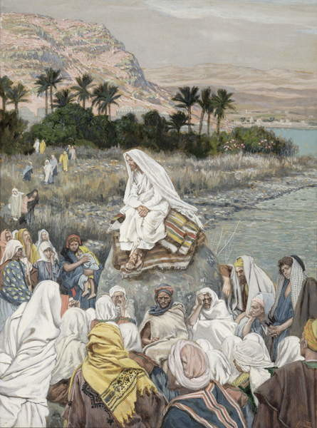 Fine Art Print Jesus Preaching by the Seashore, illustration for 'The Life of Christ', c.1886-96