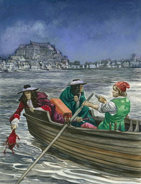 Fine Art Print  King James throws the Great Seal into the Thames