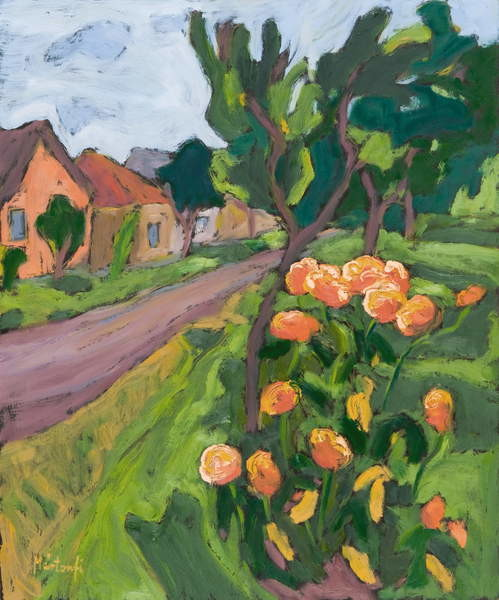Neighbour's Roses, 2008 Canvas Print