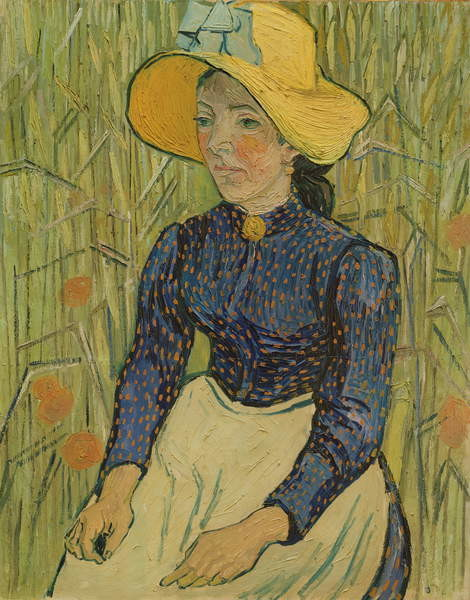 Fine Art Print Peasant Girl in Straw Hat, 1890