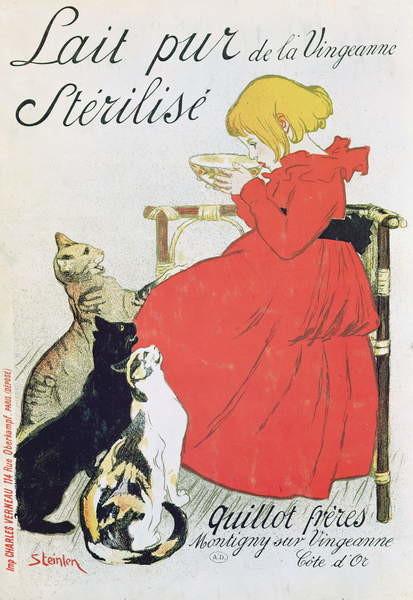 Fine Art Print Poster advertising 'Pure Sterilised Milk from La Vingeanne'