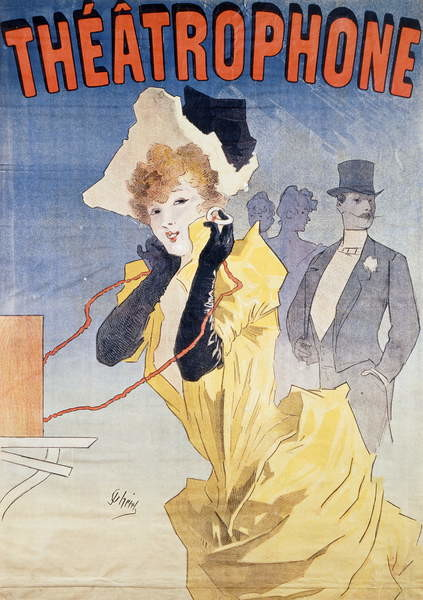 Fine Art Print Poster Advertising the 'Theatrophone'