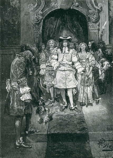 Fine Art Print  Quaker and King at Whitehall, engraved by Frank French (1850-1933) illustration from 'The Early Quakers in England and Pennsylvania' by Howard Pyle, pub. in Harper's Magazine, 1882