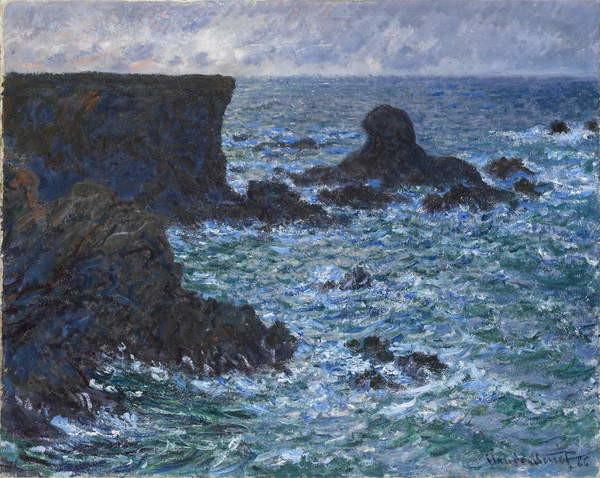 Fine Art Print Rocks at Port Coton, the Lion Rock, 1886