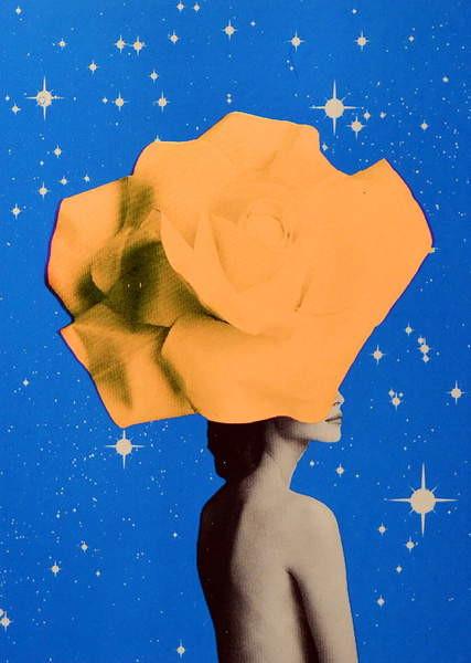 Fine Art Print Secret woman _ Orange