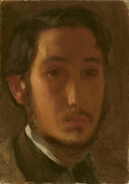 Fine Art Print  Self-Portrait with White Collar, c.1857