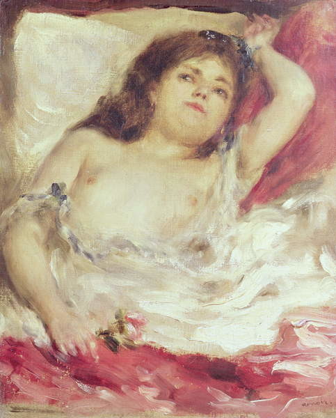 Fine Art Print Semi-Nude Woman in Bed: The Rose, before 1872