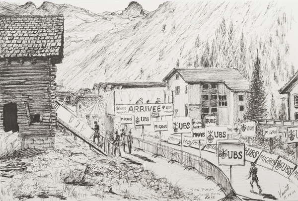 Fine Art Print Sierre to Zinal Mountain Race, The Finish, 2009,