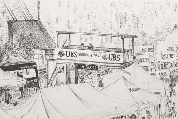 Fine Art Print  Sierre to Zinal Mountain Race, The Finish 2012.